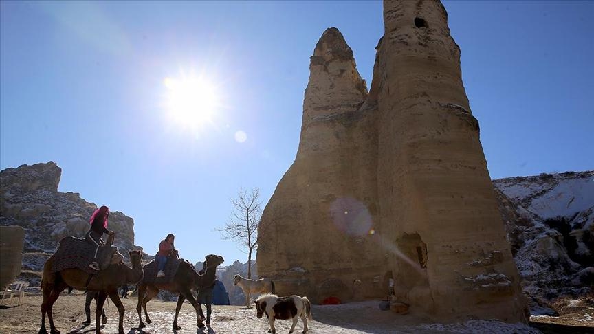 Kolombiyalı ve Meksikalı turizmciler Kapadokya'yı gezdi