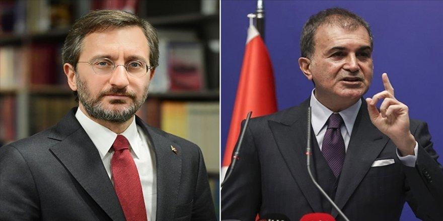 Fahrettin Altun ve Ömer Çelik'ten 'militan' ifadesine tepki