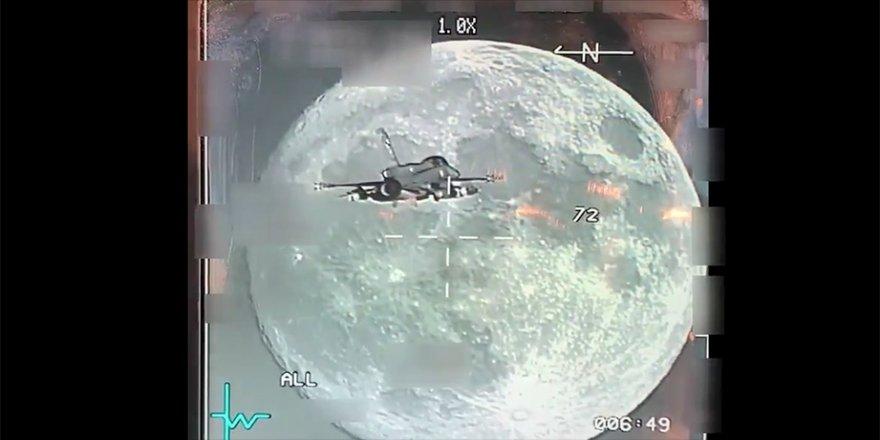Milli Savunma Bakanlığı F-16'nın gece uçuşunda görüntülediği dolunay videosunu paylaştı