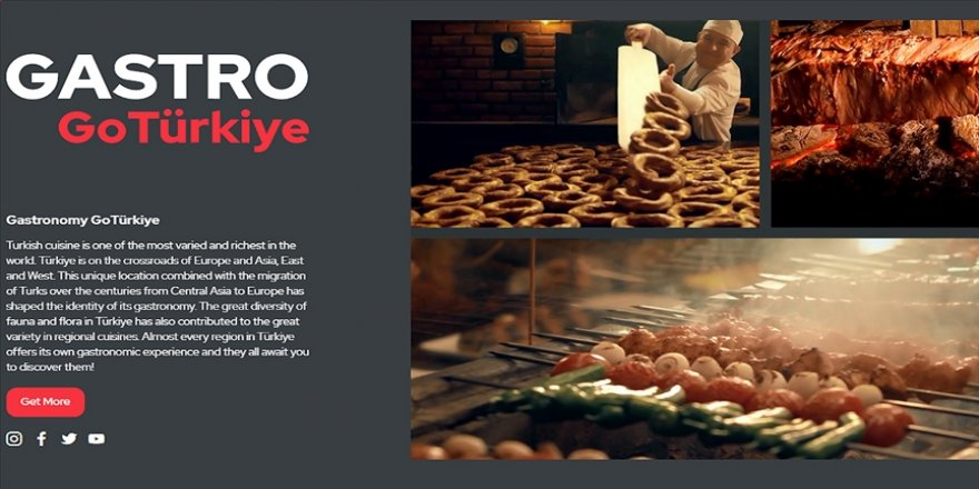 Türk mutfağı ve gastronomi rotaları GoTurkey sitesinde tanıtılmaya başlandı