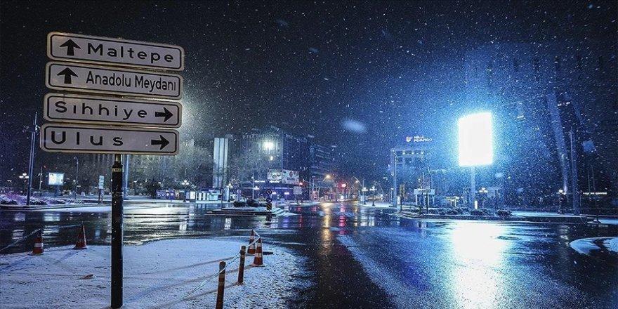 Ankara için bu gece kar ve buzlanma uyarısı