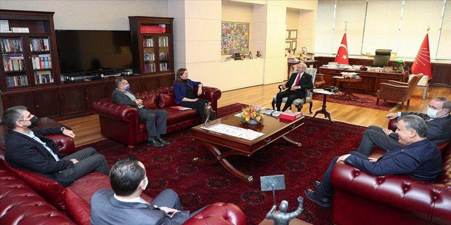 CHP Genel Başkanı Kılıçdaroğlu DİSK Başkanı Çerkezoğlu ve beraberindeki heyeti kabul etti