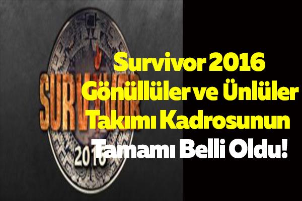 Survivor 2016'da bir isim daha belli oldu