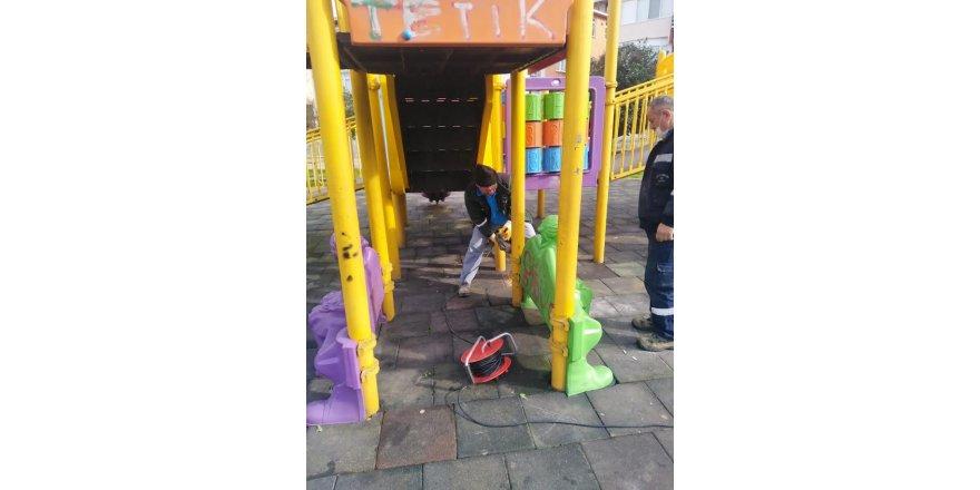 Gebze ve Darıca'da oyun gruplarının onarımı yapıldı