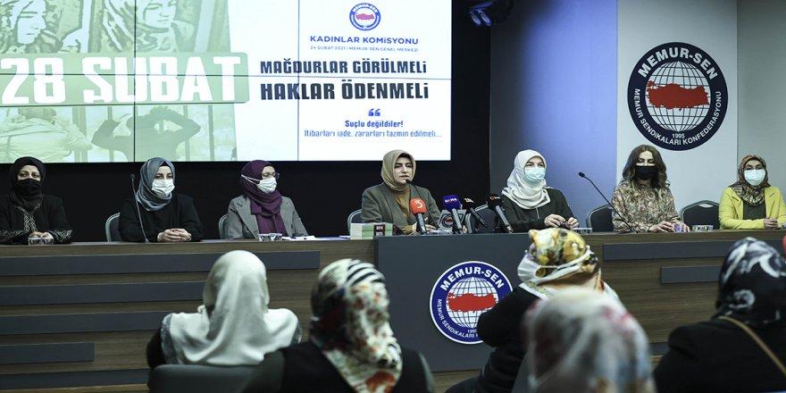 Memur-Sen Kadınlar Komisyonu Başkanı Aydın'dan 28 Şubat mağdurlarının 'haklarının ödenmesi' çağrısı