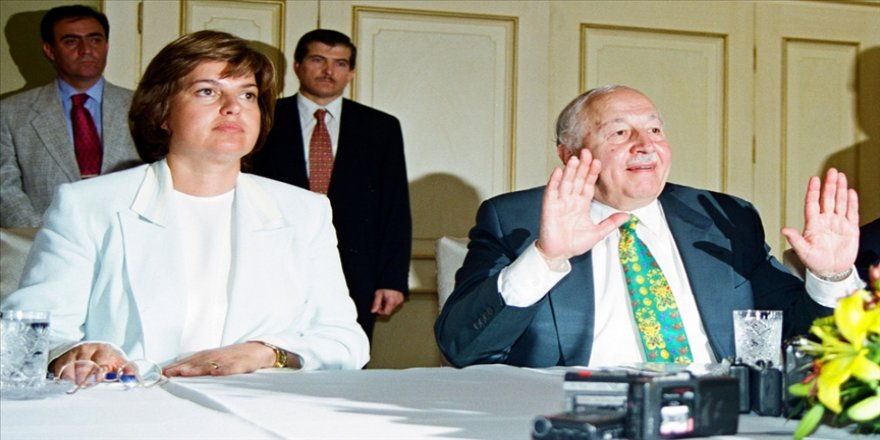 Eski başbakanlardan Çiller, vefatının 10. yılında Necmettin Erbakan'ı andı