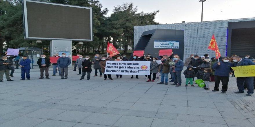 Emek Partisi Gebze Basın Açıklaması Yaptı