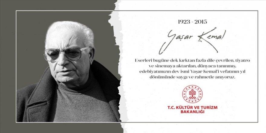 Kültür ve Turizm Bakanı Ersoy vefatının 6. yılında Yaşar Kemal'i andı
