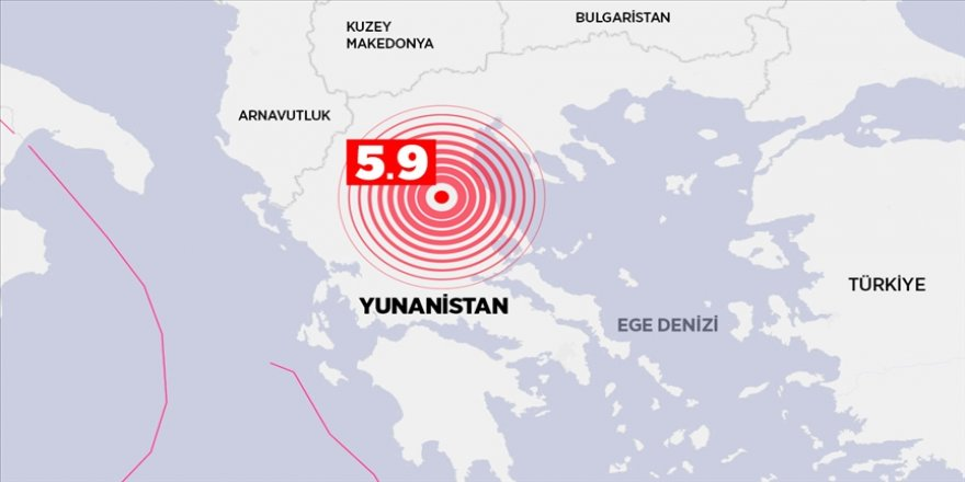 Yunanistan'ın Larissa kentinde 5,9 büyüklüğünde deprem