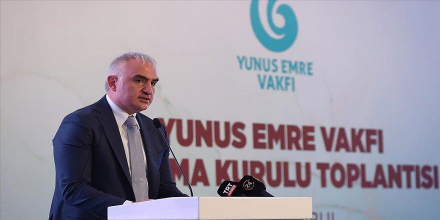 Kültür ve Turizm Bakanı Ersoy: Yunus Emre'nin insanlığa gönderdiği yüzlerce yıllık selamı tekrar ulaştıracağız
