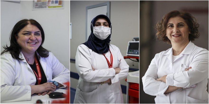 Koronavirüs savaşçısı kadınlar sağlık çalışanlarına ve kadına karşı şiddetin durmasını istiyor