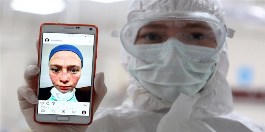 Koronavirüsle mücadelenin simgelerinden Seher hemşire mesleğiyle gurur duyuyor