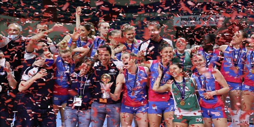 Saugella Monza, Galatasaray HDI Sigorta'yı yenerek CEV Kupası şampiyonu oldu