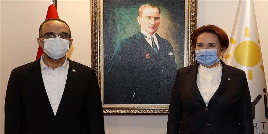 İYİ Parti Genel Başkanı Akşener, HÜDA PAR Genel Başkanı Sağlam ile görüştü