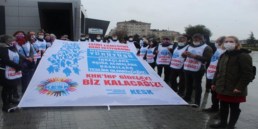 KESK Eş Genel Başkanı Mehmet Bozgeyik,  Adalet barış demokrasi ve laiklik için de yürüyoruz