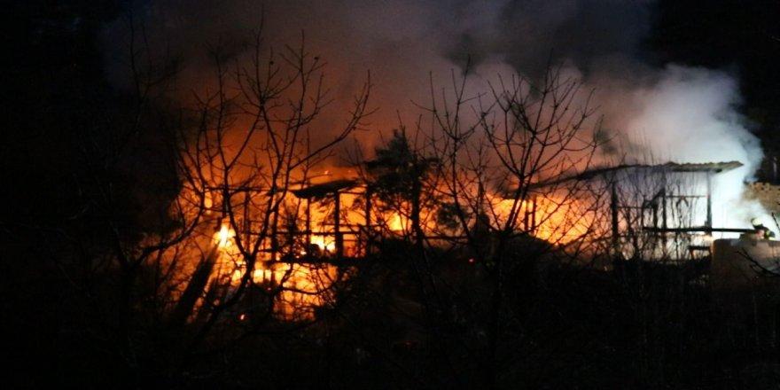 Kocaeli'de yanan baraka küle döndü