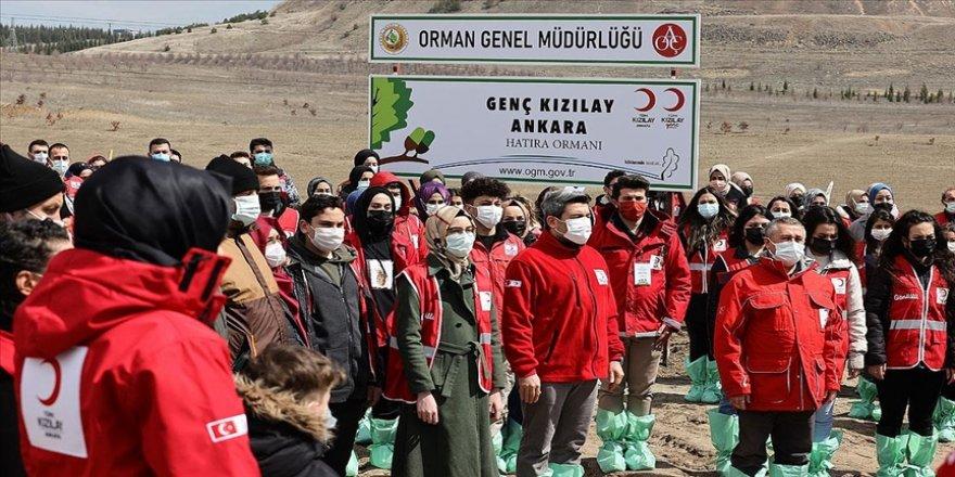 Genç Kızılay tarafından başkentte hatıra ormanı oluşturuldu