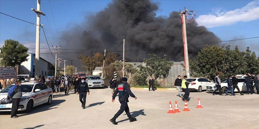 Mersin'de muz sarartma tesisinde çıkan yangın kontrol altına alındı
