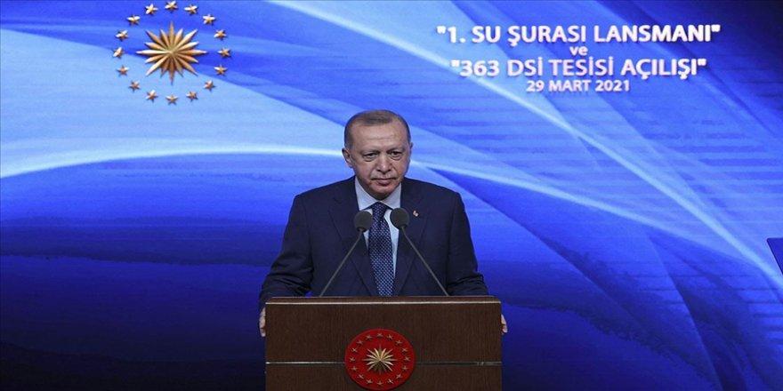 Cumhurbaşkanı Erdoğan: Suyumuzu korumakla vatanımızı korumak arasında hiçbir fark yoktur