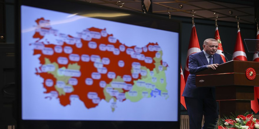 Cumhurbaşkanı Erdoğan: Ramazan ayı boyunca ülke genelinde hafta sonları sokağa çıkma sınırlaması uygulayacağız