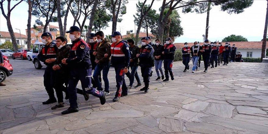 Aydın ve Muğla'da suç örgütüne yönelik operasyonda 16 şüpheli yakalandı