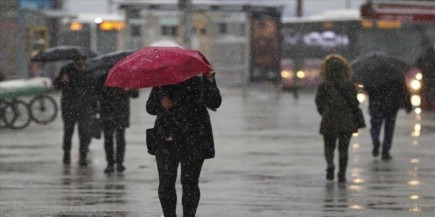 İç Ege, Göller Yöresi, İç Anadolu ile Bolu'da yarın karla karışık yağmur ve kar bekleniyor