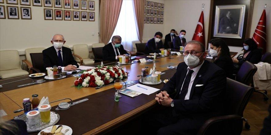 AKPM Başkanı Rik Daems, TBMM'de CHP, HDP ve İYİ Parti'yi ziyaret etti