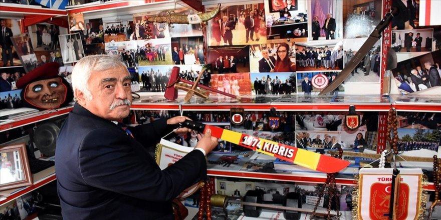 Kırşehirli gazi 47 yıllık Kıbrıs Harekatı anılarını evinde yaşatıyor