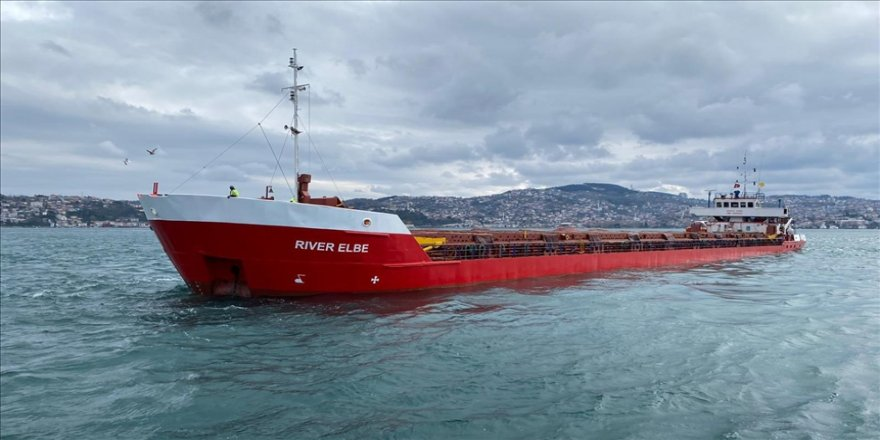 İstanbul Boğazı'nda arıza nedeniyle demirleyen kuru yük gemisi Ahırkapı açıklarına çekildi