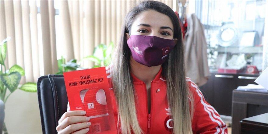 Dünya şampiyonu Evin Demirhan Türk Kızılayın Siirt'teki 250. gönüllüsü oldu