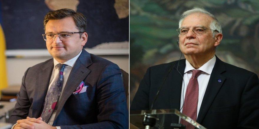 Ukrayna Dışişleri Bakanı Kuleba, AB Yüksek Temsilcisi Borrell'le Rus askeri hareketliliğini görüştü