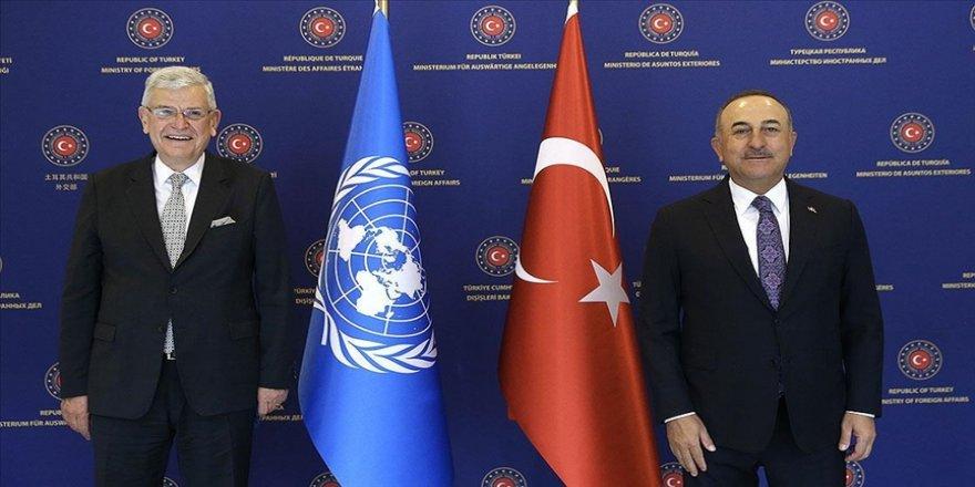 Dışişleri Bakanı Çavuşoğlu, BM 75. Genel Kurul Başkanı Bozkır'la görüştü