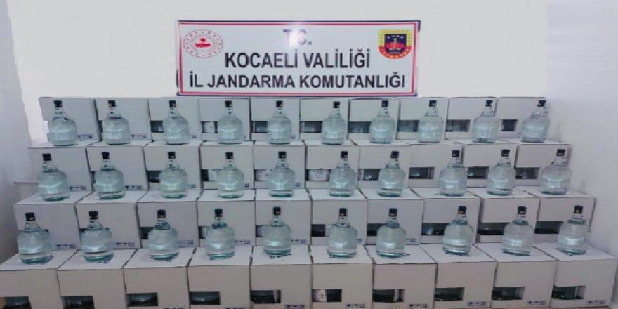 Kocaeli'de sahte alkol operasyonu