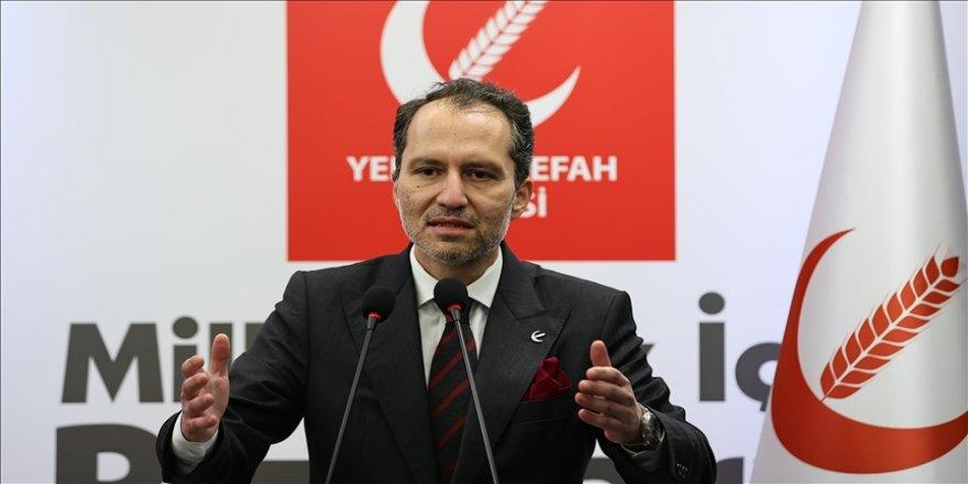 Yeniden Refah Partisi lideri Erbakan: Emekli amirallerin açıklaması muhtıra anlamı taşıyabilecek bir bildiridir