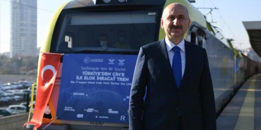 Bakü-Tiflis-Kars Demir Yolu'nda taşınan yük yılın ilk çeyreğinde katlanarak 155 bin tona yükseldi