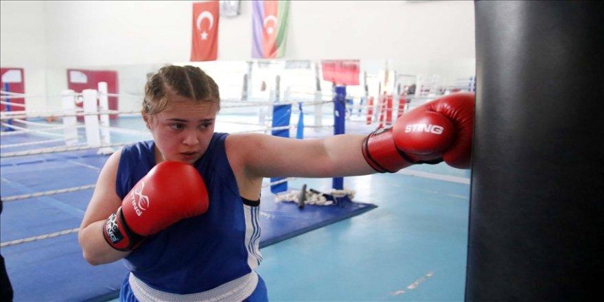 Farklı branşlarda 9 Türkiye şampiyonluğu bulunan Senanur Kocaoğlu'nun hedefi boksta dünya şampiyonluğu