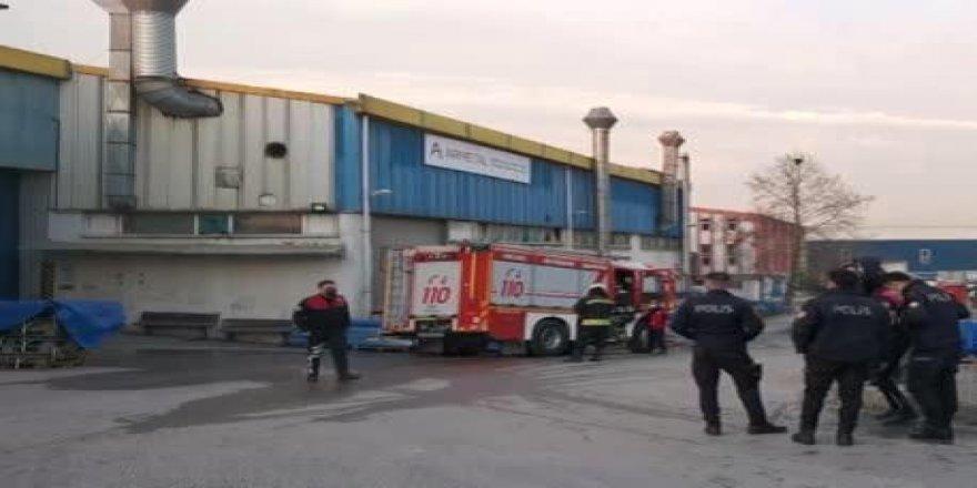 Gebze'de fabrikanın fırınında patlama meydana geldi