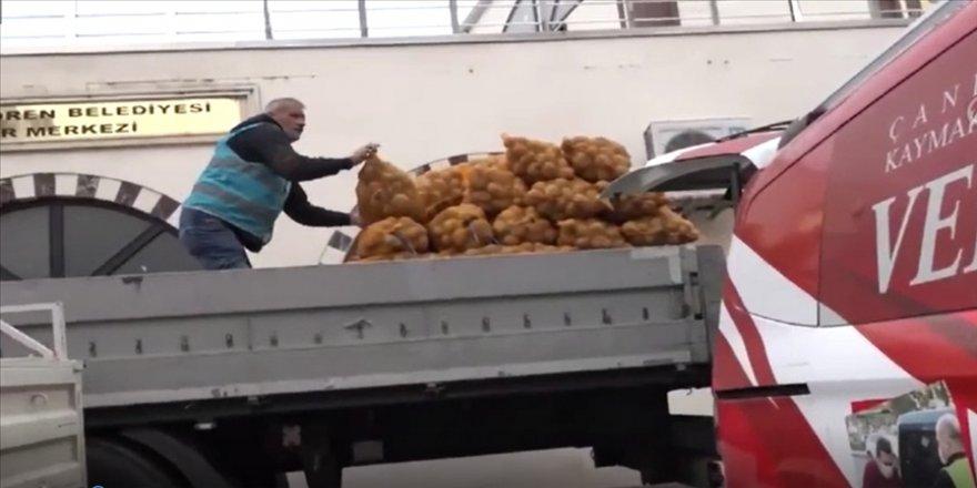 TMO'nun çiftçiden aldığı patates ve soğanlar Ankara'da 89 bin 404 ihtiyaç sahibi haneye dağıtılmaya başlandı