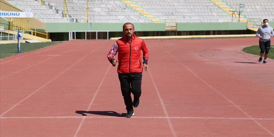 Şanlıurfalı milli atlet Hüseyin Can olimpiyat hedefi için ter döküyor