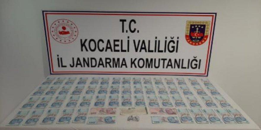 Kocaeli'de Sahte paraları piyasaya sürmek isterken yakalandı