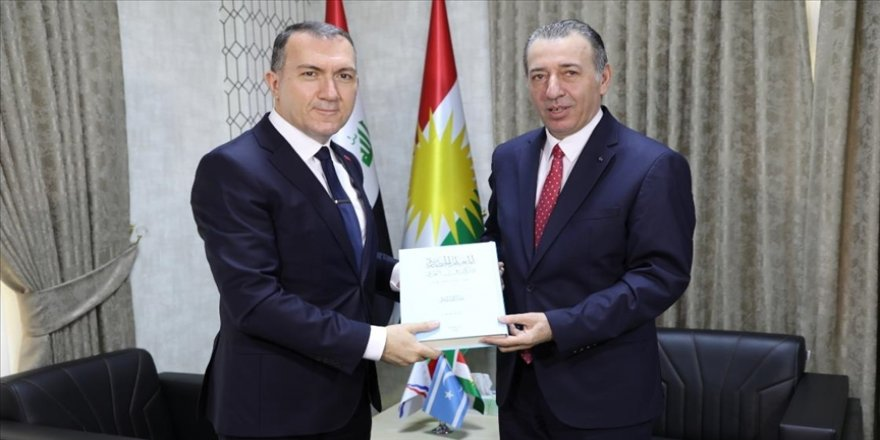 Türkiye'nin Bağdat Büyükelçisi Yıldız, Erbil'de Türkmen Bakan Maruf ile görüştü
