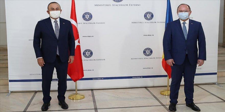 Dışişleri Bakanı Çavuşoğlu, Rumen mevkidaşı Aurescu'yla bir araya geldi