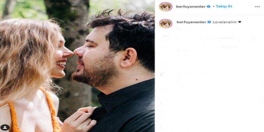 Berfu - Eser Yenenler çiftinden aşk pozu