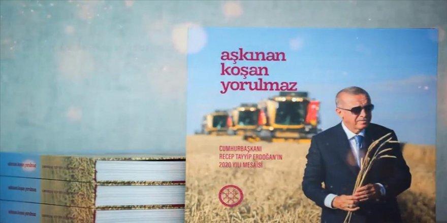 İletişim Başkanlığından Cumhurbaşkanı Erdoğan'ın 2020 mesaisini anlatan 'Aşkınan Koşan Yorulmaz' kitabı