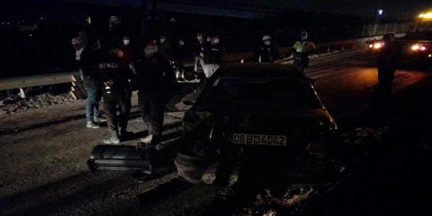 Gebze'de Trafik Kazası takla atan aracın da can verdi