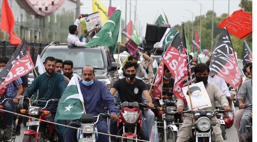 Pakistan'da, İsrail'in Filistin halkına yönelik saldırıları protesto edildi
