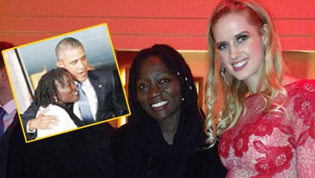 Wilma Elles Obama'nın kız kardeşiyle fotoğraf çektirdi