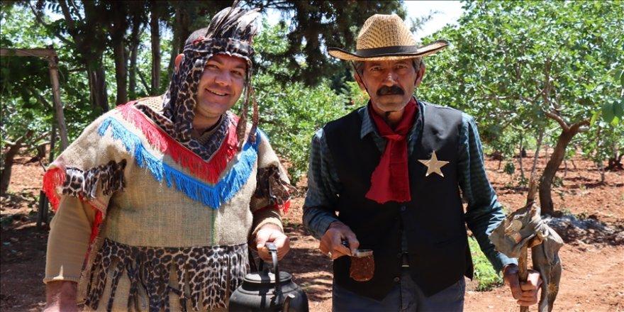 Adıyamanlı kovboyun 'Vahşi Batı' merakı gelir kapısı oldu