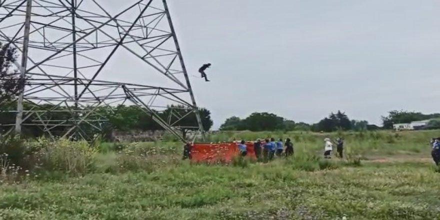 Yüksek gerileme çıkan kişi, 15 metreden aşağı atladı
