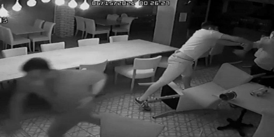 Başkan Atabay'a saldırı anı ortaya çıktı